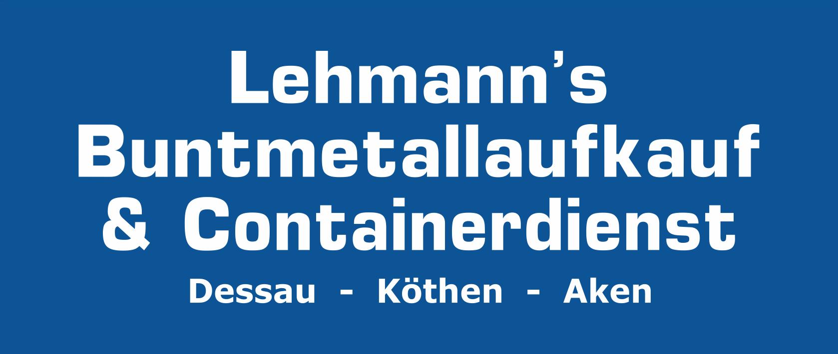Lehmanns Buntmetallaufkauf & Containerdienst